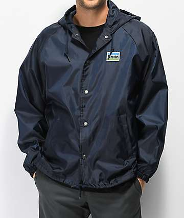 Brixton Nobel Navy Coaches Jacket