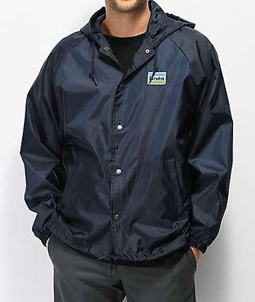 Brixton Nobel Navy Coaches Jacket