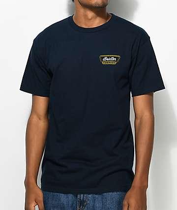 Brixton Normandie camiseta en azul marino