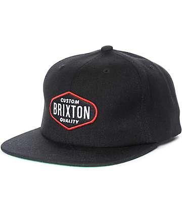 Brixton Oakland gorra snapback en negro