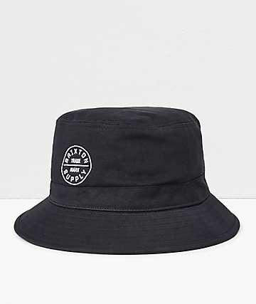 dada2446787e7a Brixton Oath Black Bucket Hat