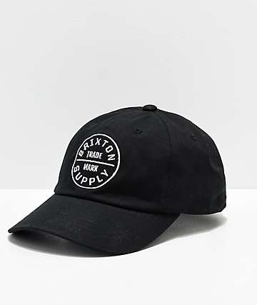 Brixton Oath II Black Strapback Hat