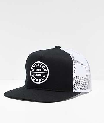 Brixton Oath III Black & White Trucker Hat