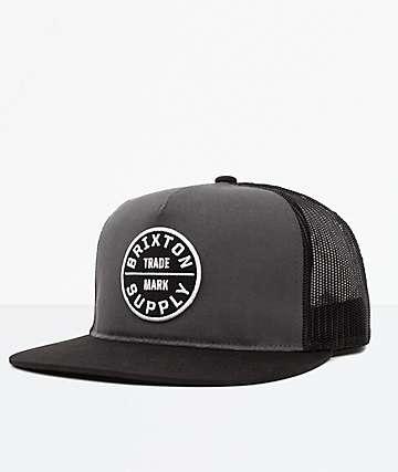 Brixton Oath III Charcoal & Black Mesh Snapback Hat