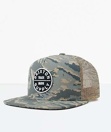Brixton Oath III Digi Tiger Camo Mesh Snapback Hat