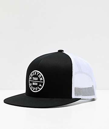 Brixton Oath III White & Black Trucker Hat