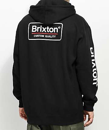 Brixton Palmer II Black Hoodie