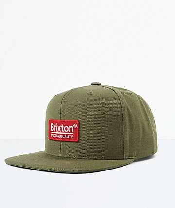 Brixton Palmer II MP Olive Snapback Hat