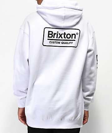 Brixton Palmer II White Hoodie