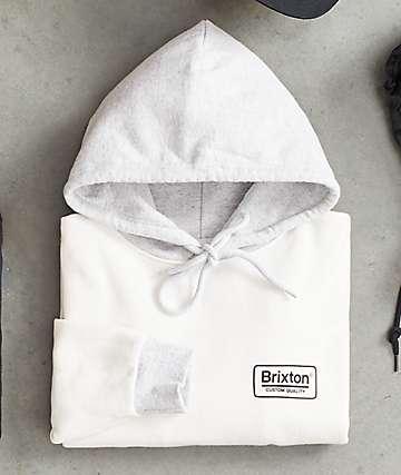 Brixton Palmer II sudadera con capucha gris y blanca