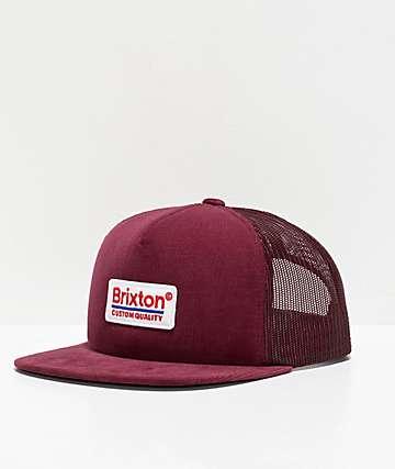 Brixton Palmer Maroon Trucker Hat