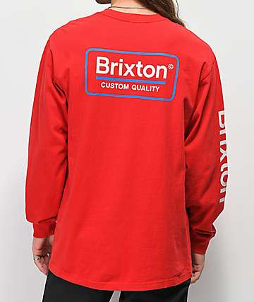Brixton Palmer Red Long Sleeve T-Shirt