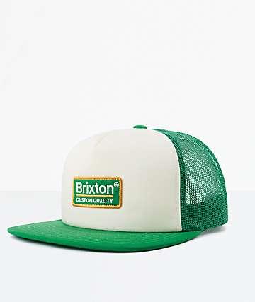 Brixton Palmer White & Clover Mesh Snapback Hat