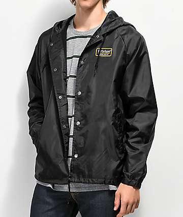 Brixton Palmer chaqueta entrenador negra con capucha