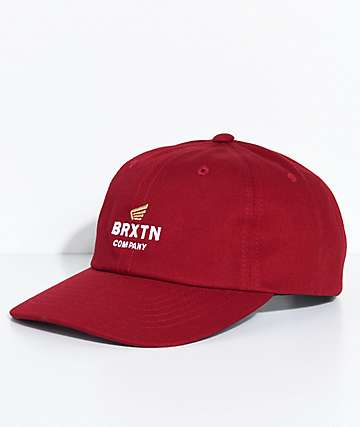 Brixton Peabody Dark Red Strapback Hat