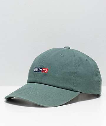 Brixton Peg Chive Green Strapback Hat