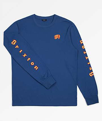 Brixton Primo Navy Long Sleeve T-Shirt