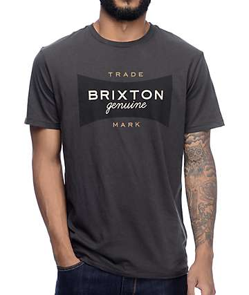 Brixton Ramsey Washed Black Premium T-Shirt