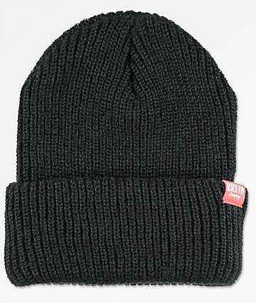 Brixton Redmond Black & Red Cuff Beanie