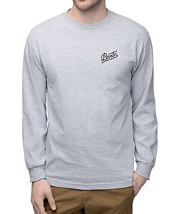 Brixton Reggie Athletic Grey Long Sleeve T-Shirt