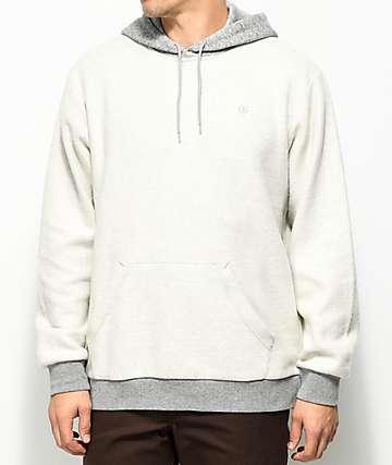 Brixton Reverse Grey Fleece Hoodie