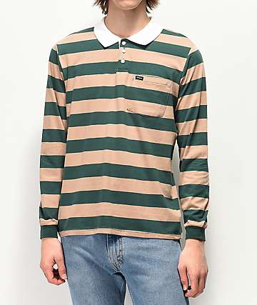 Brixton Richard Stripe Long Sleeve Polo Shirt