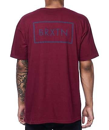 Brixton Rift camiseta en color borgoño