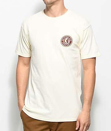 Brixton Rival II Off White T-Shirt