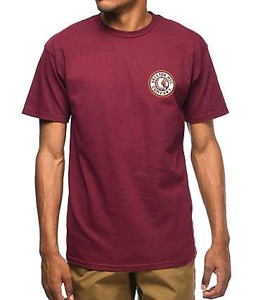 Brixton Rival II camiseta en blanco y color vino