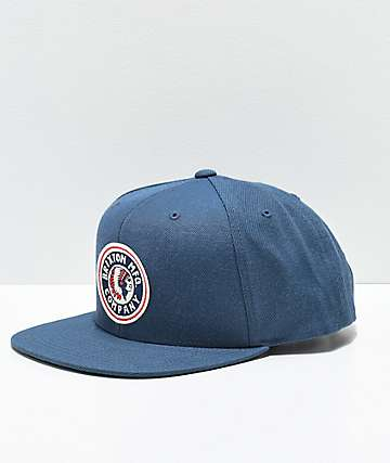 Brixton Rival Ocean Blue Snapback Hat