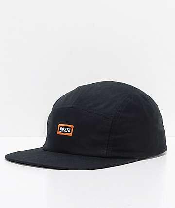 Brixton Rockford Black Strapback Hat