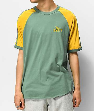 Brixton Rogers II Green & Yellow T-Shirt