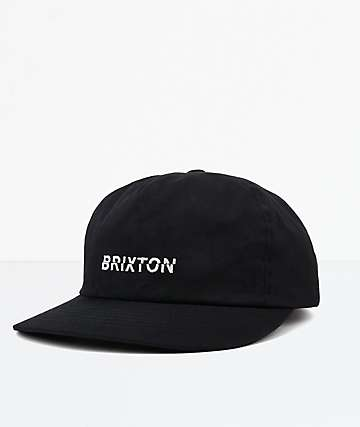 Brixton Slice Black Strapback Hat