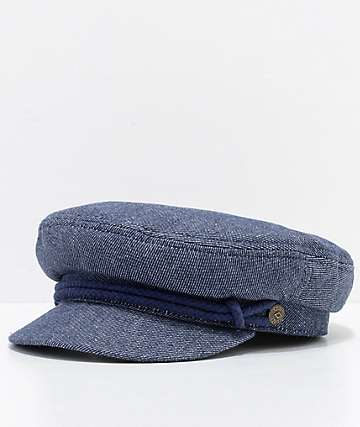 Brixton Small Fiddler gorra azul de mezclilla