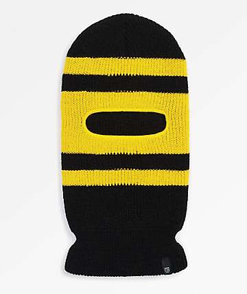 Brixton Sprocket Black & Yellow Facemask