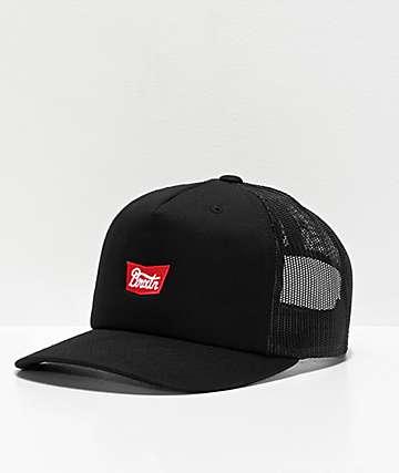 Brixton Stith Black Trucker Hat