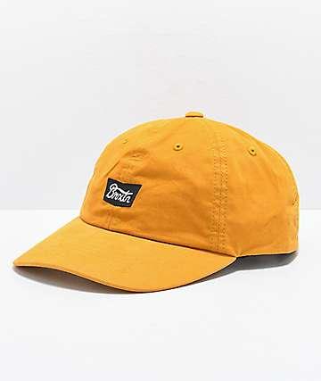 Brixton Stith Mustard Strapback Hat