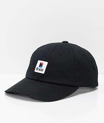 Brixton Stowell Black Strapback Hat