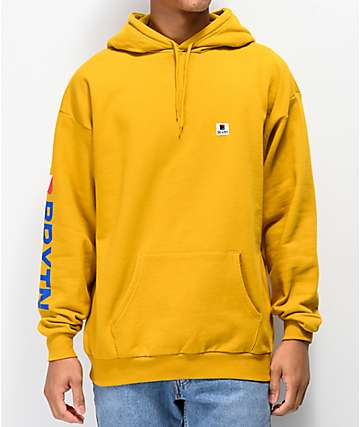 Brixton Stowell Gold Hoodie