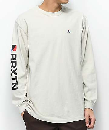Brixton Stowell White Long Sleeve T-Shirt