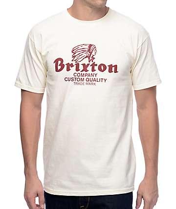 Brixton Tanka camiseta en color crema