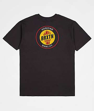 Brixton Torch Washed Black T-Shirt