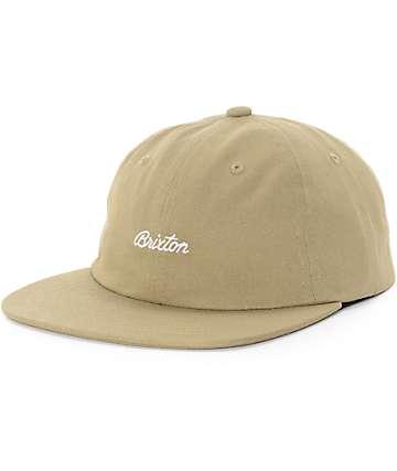 Brixton Trevor Khaki Unstructured Strapback Hat
