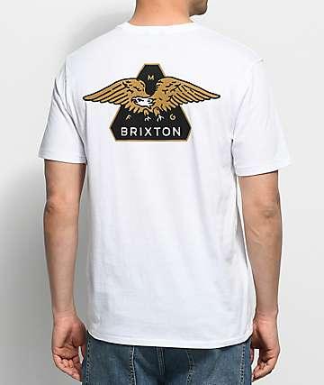 Brixton Turret Premium camiseta blanca con bolsillo