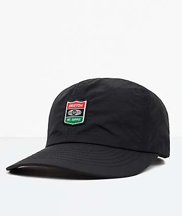 Brixton United Black Strapback Hat