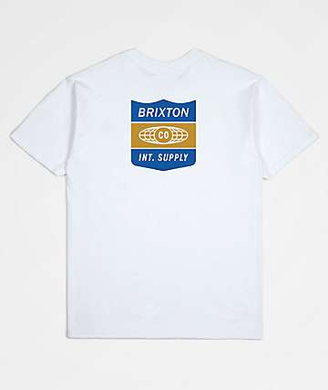 Brixton United White T-Shirt