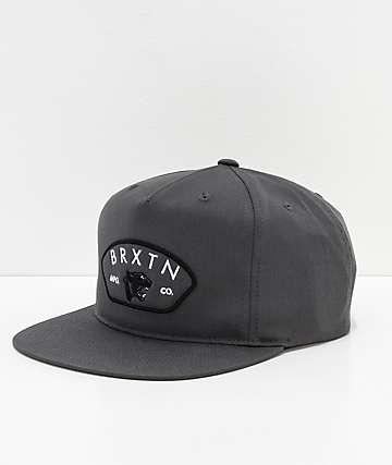 Brixton Waylon HP Charcoal Snapback Hat