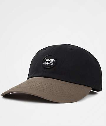 Brixton Wheeler Black & Dark Khaki Baseball Hat