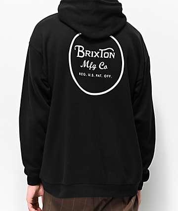 Brixton Wheeler Black Hoodie