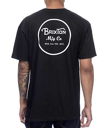 Brixton Wheeler Black T-Shirt